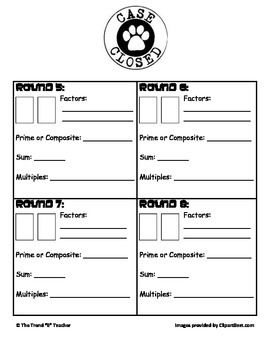 Common Core Aligned Game (4.OA.4): Factors and Multiples Detective