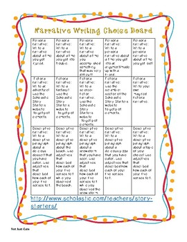 Common Core Aligned Genre Based Writing Choice Boards