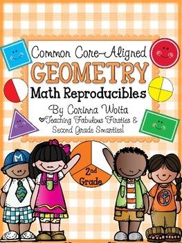 Common Core Aligned Geometry Print & Go Reproducibles: 2.G