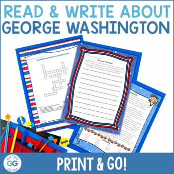 Common Core Aligned George Washington Activity Pack - 3rd, 4th, and 5th Grades