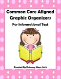 Common Core Aligned Graphic Organizers for Informational Text
