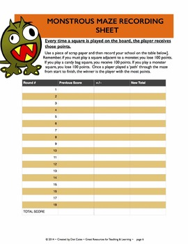 Common Core Aligned Halloween Math: Monstrous Maze: Gr. 3-5