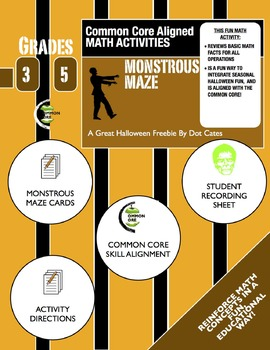 Common Core Aligned Halloween Math: Monstrous Maze: Gr. 3-5