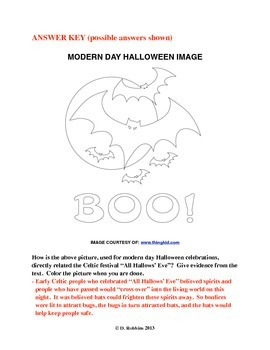 Common Core Aligned Halloween Reading, Writing, & Coloring Activity