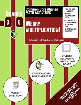 Common Core Aligned Holiday Math: Merry Multiplication: Gr. 3-5