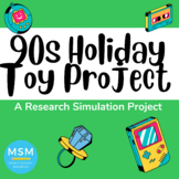 Common Core Aligned - Holiday Throwback Toy Research Project