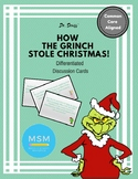 Common Core Aligned - How The Grinch Stole Christmas - Discussion Cards