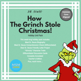 Common Core Aligned - How The Grinch Stole Christmas Holiday Unit