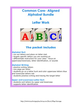 Common Core Aligned Huge Bundle of Alphabet/Letter Work!