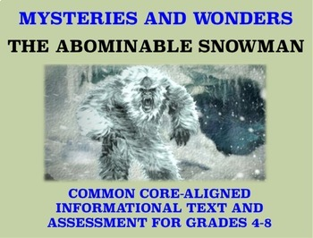 Mysteries and Wonders Passage and Assessment #18: The Abominable Snowman