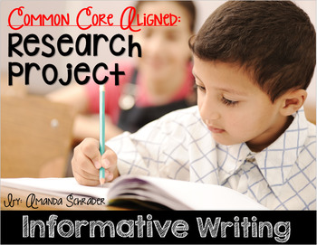 Informative Writing Unit: Research Book (Common Core Aligned)