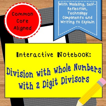 Division with Whole Numbers Interactive Notebook