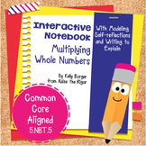 Multiplying Whole Numbers Interactive Notebook