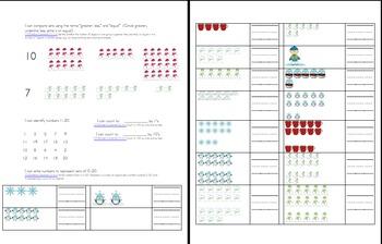 Common Core Aligned Kindergarten Assessment Portfolio