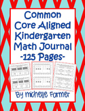 Common Core Aligned- Kindergarten Math Journal