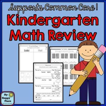 Kindergarten Math Review and Assessment