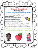 Common Core Aligned Kindergarten Writing Rubrics and Learn
