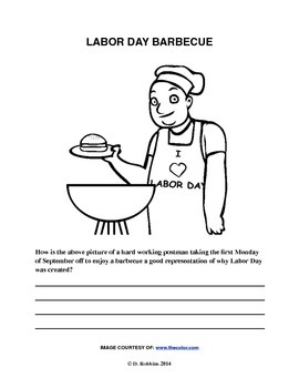 Common Core Aligned Labor Day Reading, Writing, & Coloring Activity