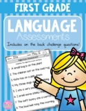 Common Core Aligned Language Assessments {First Grade}