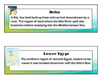 Ancient Egypt Common Core Aligned Literacy Cards with Images