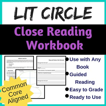 Literature Circle Workbook for Close Reading {Common Core