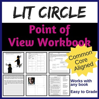 Literature Circle Workbook for Point of View {Common Core Aligned}