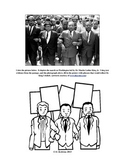 Common Core Aligned Martin Luther King Jr. Reading, Writing, & Coloring Activity