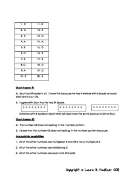 Common Core Math Assessment 3.OA.1, 3.OA.2, 3.OA.4,3.OA.5,3.OA.6,3.OA.7,3.OA.9