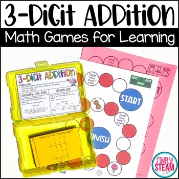 Three Digit Addition Game - Grade 2