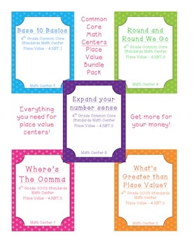 Common Core Aligned Math Centers - Place Value Bundle