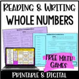 Common Core Aligned Math Games: 4.NBT.2 Reading and Writing Whole Numbers