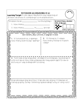 Common Core Aligned 3rd Grade Math Interactive Lesson Guides tied to EnVision