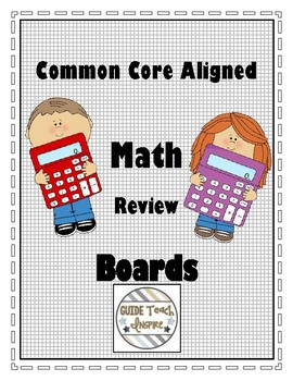 Grade 3 Common Core Aligned Math Review Boards for Math Focus Wall