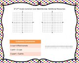 Common Core Aligned Math Review Task Cards for 6th & 7th Grade