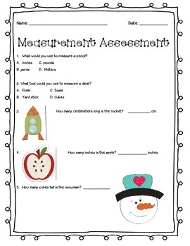 Common Core Aligned Measurement Test-Second Grade