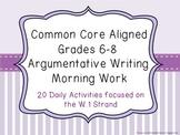 Common Core Aligned Middle Grades Argumentative Writing Mo