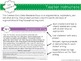 Common Core Aligned Middle Grades Informative Writing Morning Work