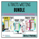Common Core Aligned 6 Traits Middle School Rubrics Bundle