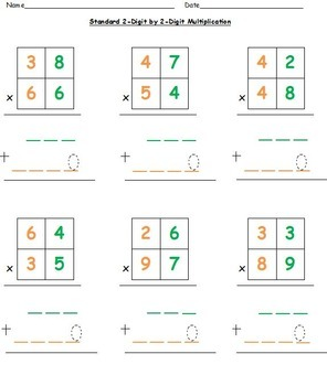 Common Core Aligned Multiplication Unit with Differentiated Work for 4th Grade