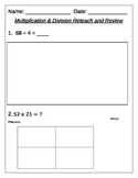 Common Core Aligned Multiplication and Division Packet