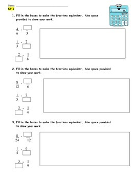 Common Core Aligned NF.1:  Practice/Review and Summative 12 Pages