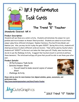 Common Core Aligned NF.4 Performance Task Cards