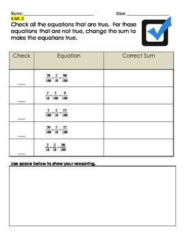 Common Core Aligned NF.5 Assessment Tasks or Warm Ups