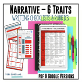 Common Core 6 Traits Narrative Writing Rubrics for 6, 7, 8 {Google Resource}