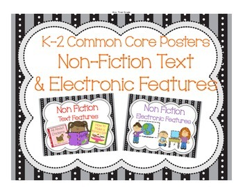 Non Fiction Posters with Electronic and Text Features