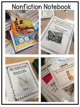 First Grade Text Features: Nonfiction Notebook