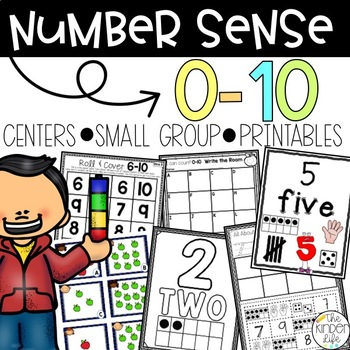 Common Core Aligned Numbers 0-10 Galore: Interactive Poste