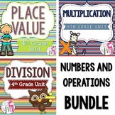 Numbers and Operations LESSONS Bundle - 4th Grade