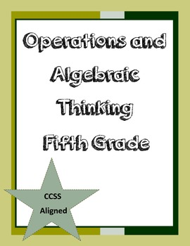 Common Core Aligned- Operations and Algebraic Thinking