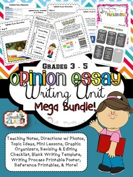 """Color Coded"" Common Core Aligned Opinion Writing Essay Unit"